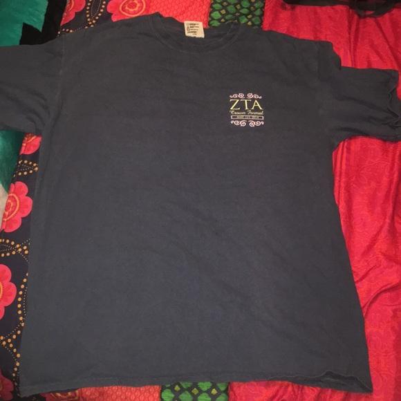 Comfort Colors Tops - Univ of Arkansas Zeta Tau Alpha 2014 Formal Shirt